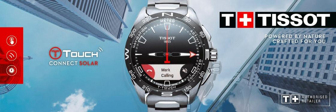 Tissot T-Touch Connect Solar Smartwatch avec bracelet en titane