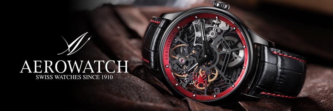 Aerowatch Herren Uhr Renaissance Spider Skeleton