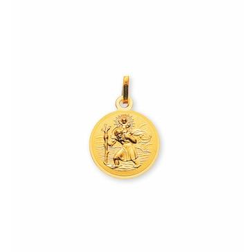 Anhänger 750/18 K Gelbgold, Christophorus