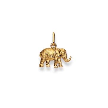 Anhänger 750/18 K Gelbgold, Elefant