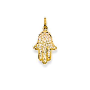 Anhänger 750/18 K Gelbgold, Fatima-Hand