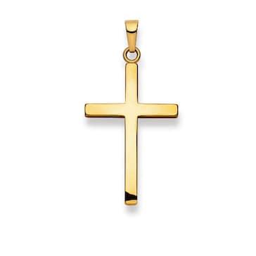 Anhänger 750/18 K Gelbgold, Kreuz 1158.02014/0003