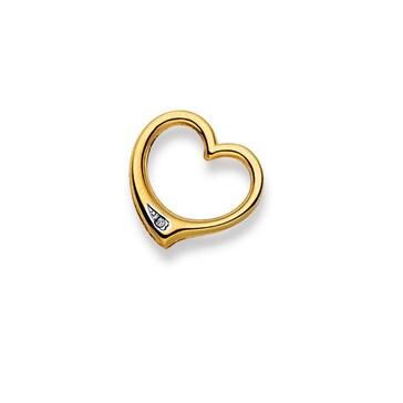 Anhänger 750/18 K Gelbgold mit Diamant, Herz 1556.06934/0009