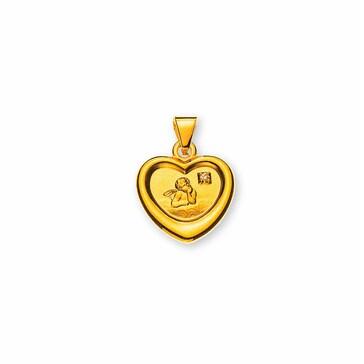 Anhänger 750/18 K Gelbgold mit Diamant, Schutzengel AME1031