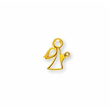 Anhänger 750/18 K Gelbgold mit Diamant, Schutzengel