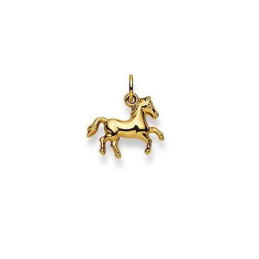 Anhänger 750/18 K Gelbgold, Pferd