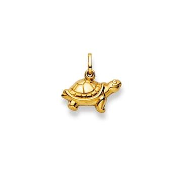Anhänger 750/18 K Gelbgold, Schildkröte
