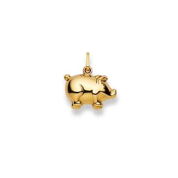 Anhänger 750/18 K Gelbgold, Schwein