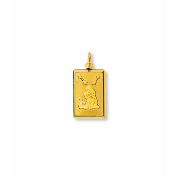 Anhänger 750/18 K Gelbgold, Sternzeichen Wassermann