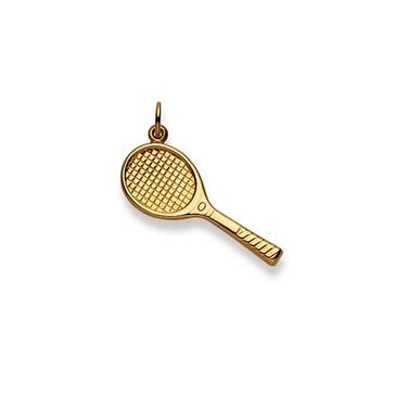 Anhänger 750/18 K Gelbgold, Tennisschläger