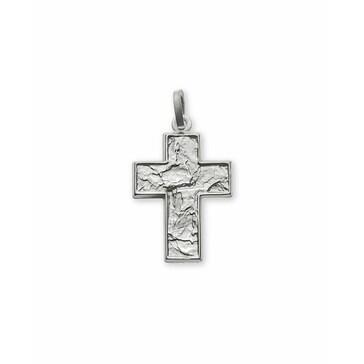 Anhänger 750/18 K Weissgold, Kreuz