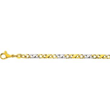 Carrera-Armband poliert 750/18 K Bicolor 3.5mm - 22cm