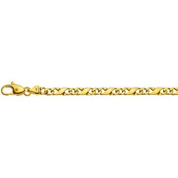 Carrera-Armband poliert 750/18 K Gelbgold 4.0mm - 22cm
