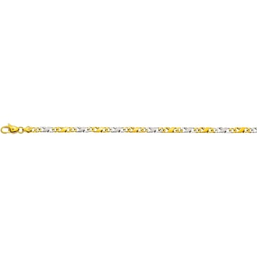 Carrera-Armband satiniert 750/18 K Bicolor 4.0mm - 22cm