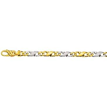 Carrera-Armband satiniert 750/18 K Bicolor 5.0mm - 22cm