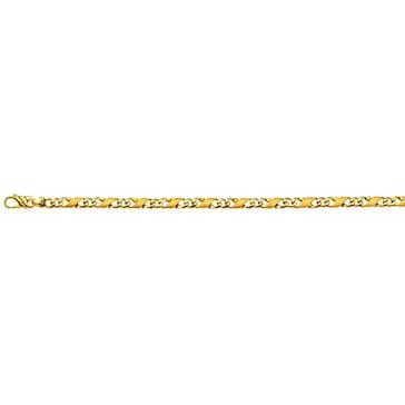 Carrera-Armband satiniert 750/18 K Gelbgold 5.0mm - 19cm