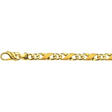 Carrera-Armband satiniert 750/18 K Gelbgold 5.0mm - 22cm