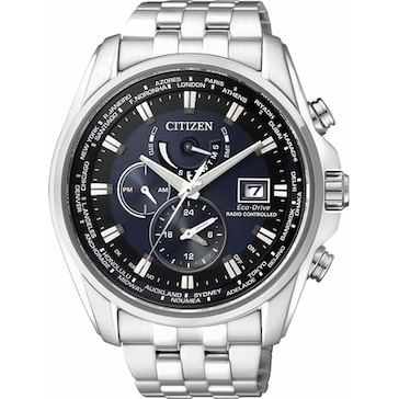 Citizen Elegant Dual Time Eco-Drive Radio Controlled AT9030-55L