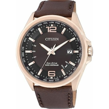 Citizen Elegant World Timer Eco-Drive Radio Controlled CB0017-03W