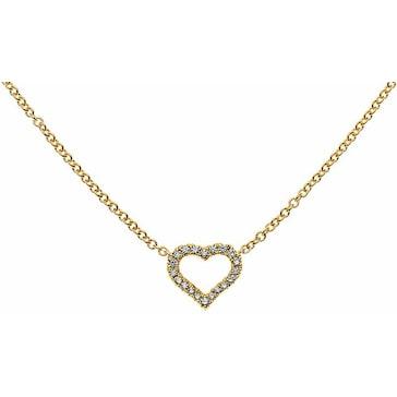 Collier 750/18 K Gelbgold mit Diamanten, Herz CBR101245