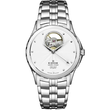 Edox Grand Ocean Open Heart Automatic Lady