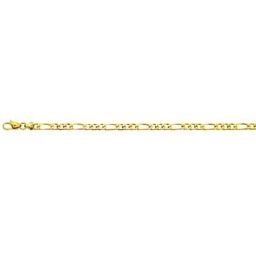 Figaroarmband massiv 750/18 K Gelbgold 4.5mm - 19cm