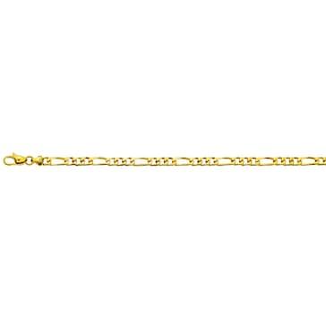 Figaroarmband massiv 750/18 K Gelbgold 4.5mm - 22cm