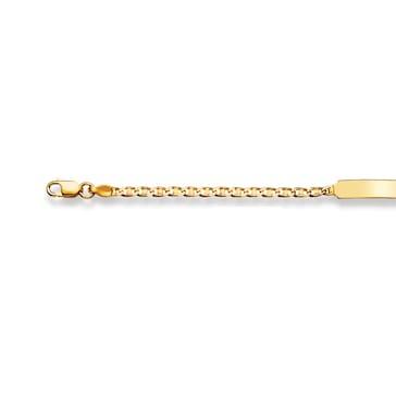 Gravurarmband / ID-Bracelet 750/18 K Gelbgold 2.2 mm