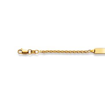 Gravurarmband / ID-Bracelet 750/18 K Gelbgold 2.5 mm
