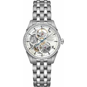 Hamilton Jazzmaster Viewmatic Skeleton Lady Diamonds Auto H42405191