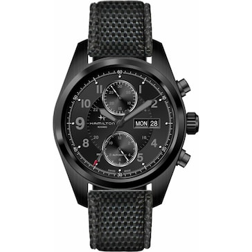 Hamilton Khaki Field Full Black Auto Chrono