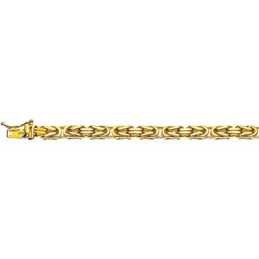 Königsarmband klassisch 750/18 K Gelbgold massiv 4.0mm - 19cm