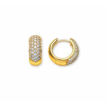 Kreolen 750/18 K Gelbgold mit Diamanten Ø 13.5mm