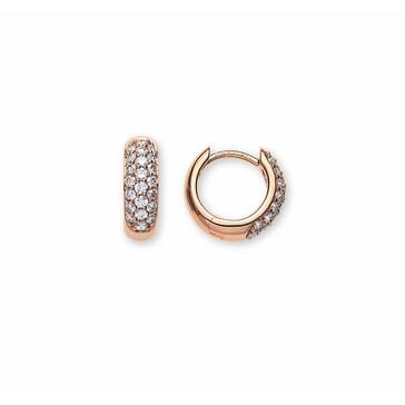 Kreolen 750/18 K Rotgold mit Diamanten Ø 11mm OBR3013
