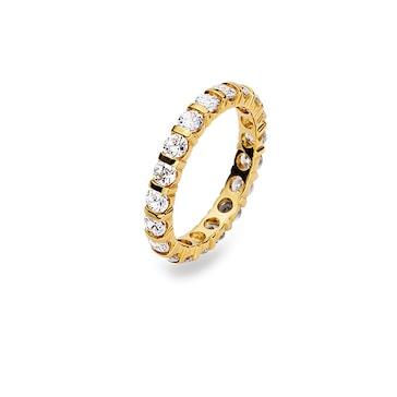 Mémoire-Ring 750/18 K Gelbgold mit Zirkonia