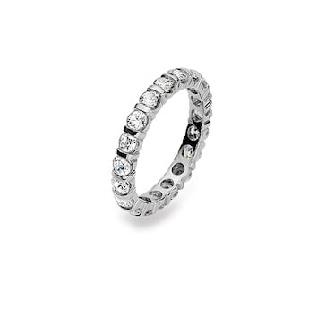 Mémoire-Ring 750/18 K Weissgold mit Zirkonia 1211.10017