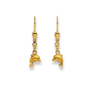 Ohrhänger 750/18 K Gelbgold, Delfin 1169.02515/0001