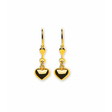 Ohrhänger 750/18 K Gelbgold, Herz