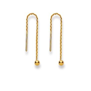 Ohrhänger 750/18 K Gelbgold, Kugel