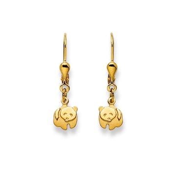 Ohrhänger 750/18 K Gelbgold, Pandabär