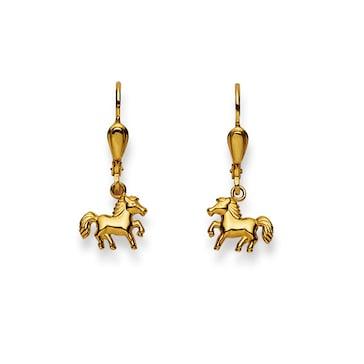 Ohrhänger 750/18 K Gelbgold, Pferd