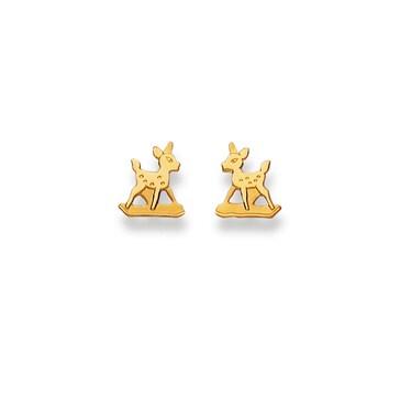 Ohrstecker 750/18 K Gelbgold, Bambi