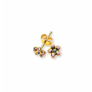 Ohrstecker 750/18 K Gelbgold, Blume
