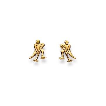 Ohrstecker 750/18 K Gelbgold, Eishockeyspieler 1163.02328/0004