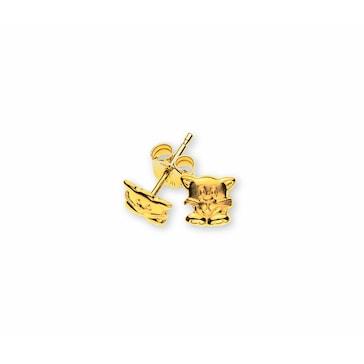 Ohrstecker 750/18 K Gelbgold, Katze