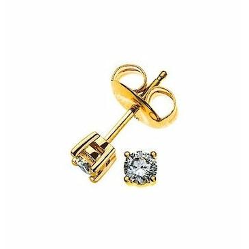 Ohrstecker 750/18 K Gelbgold mit Diamant 0.10ct H/Si
