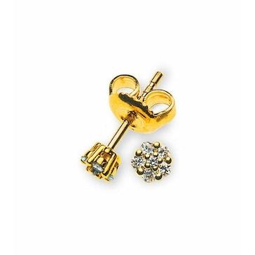 Ohrstecker 750/18 K Gelbgold mit Diamant 0.12ct H/Si OBR1012