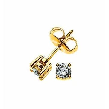Ohrstecker 750/18 K Gelbgold mit Diamant 0.20ct H/Si OSO1003