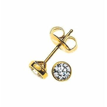 Ohrstecker 750/18 K Gelbgold mit Diamant 0.20ct H/Si