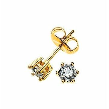 Ohrstecker 750/18 K Gelbgold mit Diamant 0.20ct H/Si OSO1019
